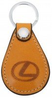 """Брелок для ключей оранжевый с логотипом """"Lexus"""" капля"""