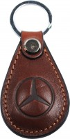 """Брелок для ключей коричневый с логотипом """"Mersedes"""" капля"""