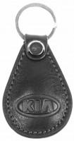 """Брелок для ключей черный с логотипом """"Kia"""" капля"""