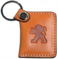 """Брелок для ключей оранжевый с логотипом """"Peugeot"""" книжка"""