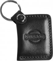 """Брелок для ключей черный с логотипом """"Nissan"""" книжка"""