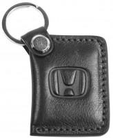 """Брелок для ключей черный с логотипом """"Honda"""" книжка"""