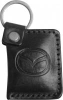 """Брелок для ключей черный с логотипом """"Mazda"""" книжка"""