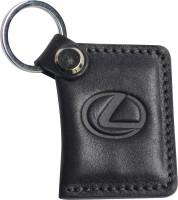 """Брелок для ключей черный с логотипом """"Lexus"""" книжка"""