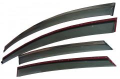 Дефлекторы окон для Ford Focus III '11-, с хром. молдингом (ASP)