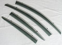Дефлекторы окон для Kia Cerato '13-17, с хром. молдингом (ASP)