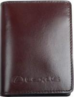 """Обложка для документов темно-коричневая """"Lexus"""""""