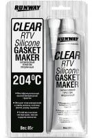Силиконовый герметик прозрачный Clear Rtv Silicone Gasket Maker 85мл (Runway)