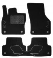 Коврики в салон для Audi A3 '12- текстильные чёрные (Премиум) 8 клипс