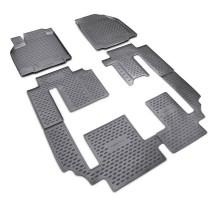 Коврики в салон для Mazda CX-9 '16-, 3 ряда, полиуретановые (Novline / Element)