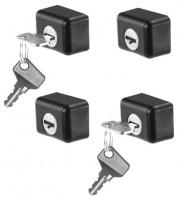 Комплект замков с ключами для поперечин SR+, ST Cruz 932-034 4 шт.