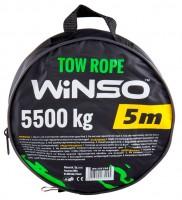 Трос буксировочный с металлическими крючками 5,5т, 5м. (WINSO)