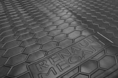 Фото 4 - Коврик в багажник для Renault Megane 3 '08-16, универсал, резиновый, с карманами (AVTO-Gumm)