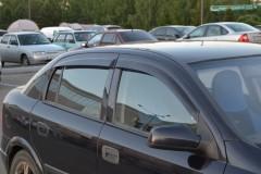 Дефлекторы окон для Opel Astra G '98-10, седан/хетчбек, 4шт. (Cobra)
