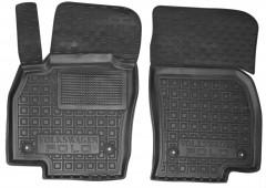 Коврики в салон передние для Volkswagen Polo '17-, 5 дв. резиновые, черные (AVTO-Gumm)