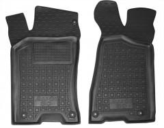 Коврики в салон передние для Audi 80 '91-94 резиновые, черные (AVTO-Gumm)