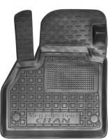 Коврик в салон водительский для Mercedes Citan '13- резиновые, черные (AVTO-Gumm)