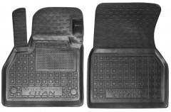 Коврики в салон передние для Mercedes Citan '13- резиновые, черные (AVTO-Gumm)