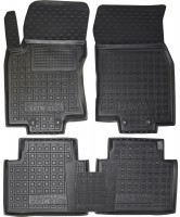 Коврики в салон для Renault Koleos '17- резиновые, черные (AVTO-Gumm)