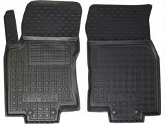 Коврики в салон передние для Renault Koleos '17- резиновые, черные (AVTO-Gumm)
