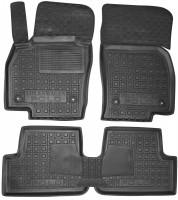 Коврики в салон для Volkswagen Polo '17-, 5 дв. резиновые, черные (AVTO-Gumm)