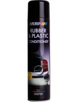 Аэрозольный кондиционер для резины и пластика Motip Black Line 600 мл.