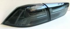 Фонари задние для Mitsubishi Lancer X (10), Evo X, Sb '07-, LED, черные, к-кт (Junyan)