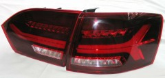 Фото 4 - Фонари задние для Volkswagen Jetta VI '12- LED, к-кт (Junyan)