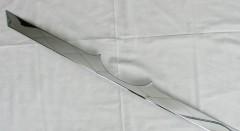Накладка на крышку багажника для Hyundai Santa Fe '13- DM,  хром, нержавеющая сталь (ASP)