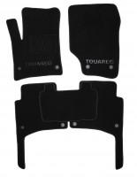 Коврики в салон для Volkswagen Touareg '02-09 текстильные, черные (Премиум) 8 клипс