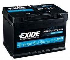 Автомобильный аккумулятор EXIDE MICRO-HYBRID AGM 70Ач
