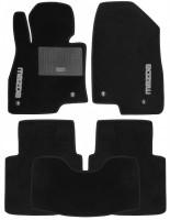 Коврики в салон для Mazda 6 '13- текстильные, черные (Стандарт) 4 клипсы
