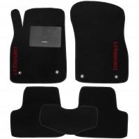 Коврики в салон для Chevrolet Cruze '09- текстильные, черные (Стандарт) 4 клипсы