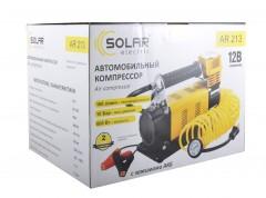 Фото товара 2 - Компрессор автомобильный Solar AR213 с зажимами АКБ
