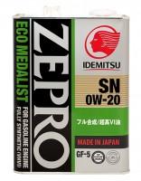 Idemitsu Zepro Eco Medalist 0W-20 (4 л.)