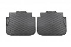 Коврики в салон для Volkswagen Caddy '04-,  резиновые, черные, задние (VAG-Group) 2K006151282V