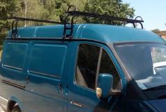 Багажник ГАЗ Газель/Соболь/Баргузин на водосток (Десна-авто) квадратный