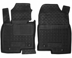 Коврики в салон передние для Mazda CX-9 '16- резиновые, черные (AVTO-Gumm)
