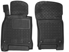 Коврики в салон передние для Infiniti M (Q70) '11- резиновые, черные (AVTO-Gumm)