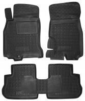 Коврики в салон для Infiniti FX '03-08 резиновые, черные (AVTO-Gumm)