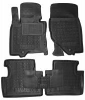 Коврики в салон для Infiniti FX (QX70) '09- резиновые, черные (AVTO-Gumm)