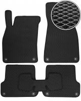 Kinetic Коврики в салон для Audi A4 '00-05, EVA-полимерные, черные (Kinetic)