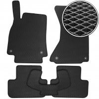 Коврики в салон для Audi A4 '08-15, EVA-полимерные, черные (Kinetic)