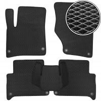 Коврики в салон для Audi Q7 '05-14, EVA-полимерные, черные (Kinetic)