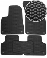 Коврики в салон для Audi Q7 '15-, EVA-полимерные, черные (Kinetic)