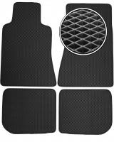 Коврики в салон для BMW 7 E32 '87-94, EVA-полимерные, черные (Kinetic)
