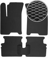 Коврики в салон для Chevrolet Aveo '04-11, EVA-полимерные, черные (Kinetic)