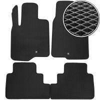 Коврики в салон для Chevrolet Captiva '06-, EVA-полимерные, черные (Kinetic)