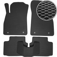 Коврики в салон для Chevrolet Malibu '12-, EVA-полимерные, черные (Kinetic)