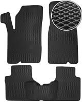 Коврики в салон для Chevrolet Niva '02-, EVA-полимерные, черные (Kinetic)